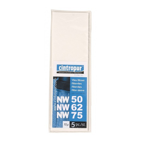 Lot 5 tamis filtrants 131/50-62-75 10µ