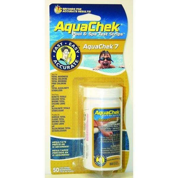 TESTEUR AQUACHECK 7 BROME/CHLORE/ALK/CYA 50U TUBE