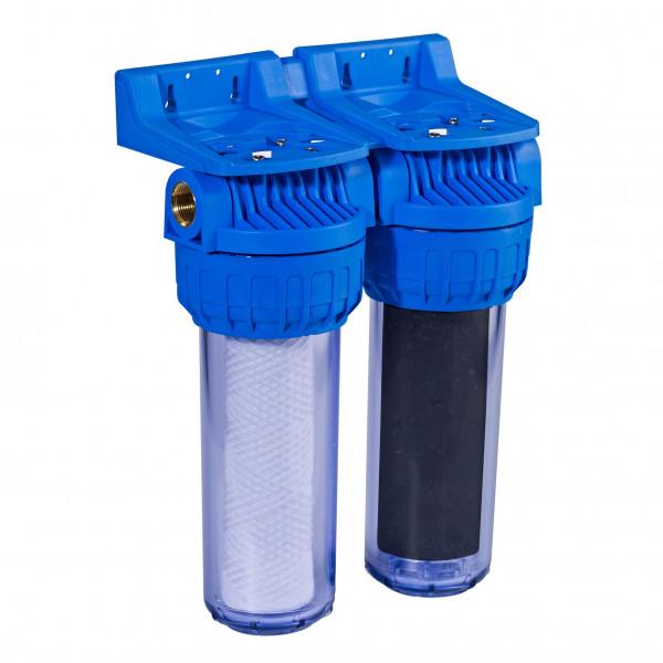 Double filtre - Filtration 20µ + anti-odeurs/goût